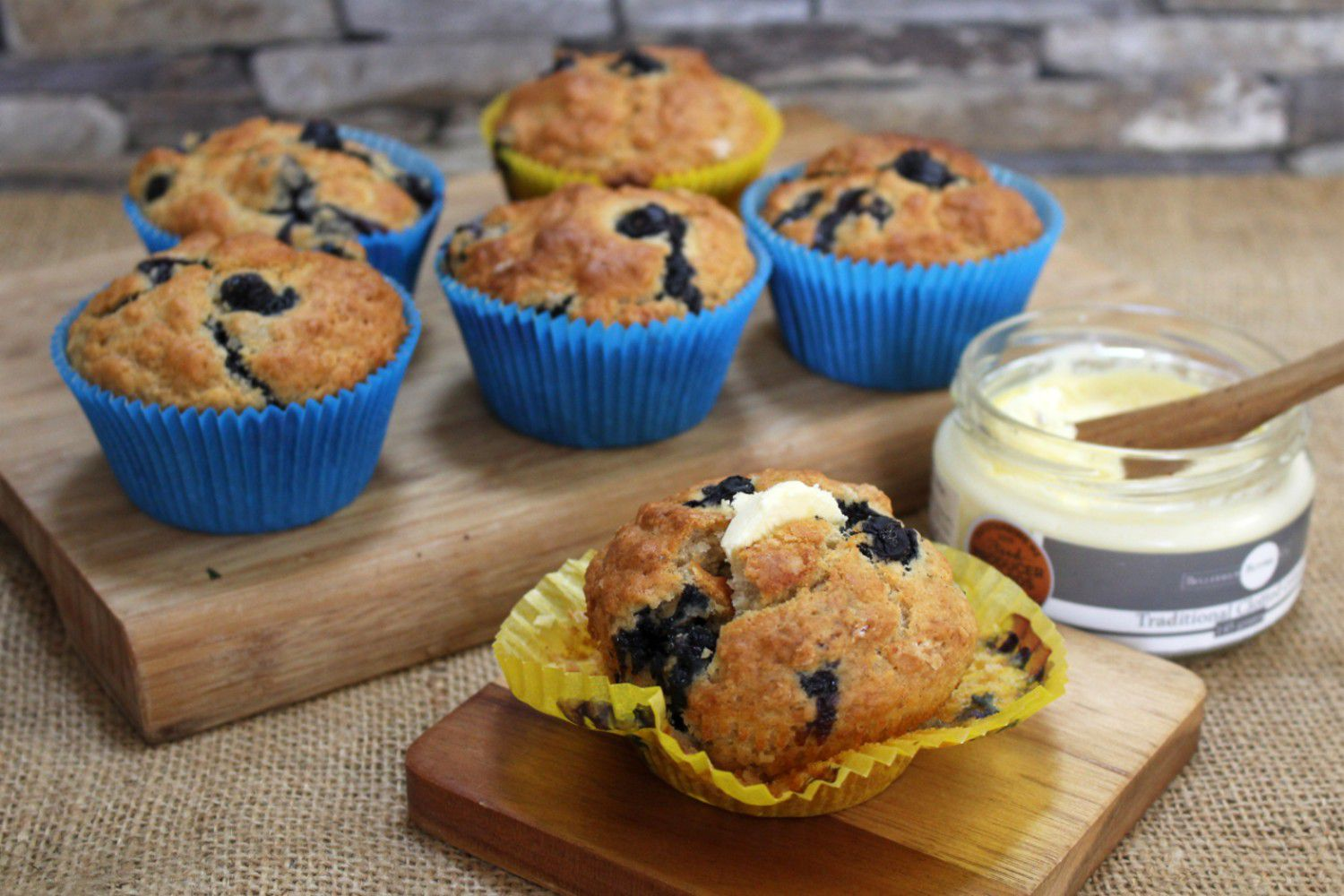 Blueberry And Buttermilk Muffins With Clotted Cream Nz Herald